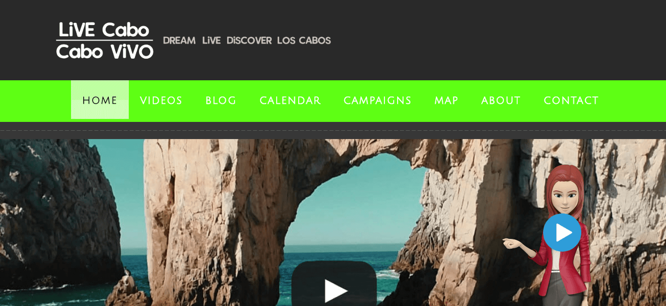 Cabo ViVO website portfolio